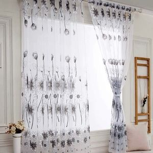 Other - Single panel sheer Flower curtain